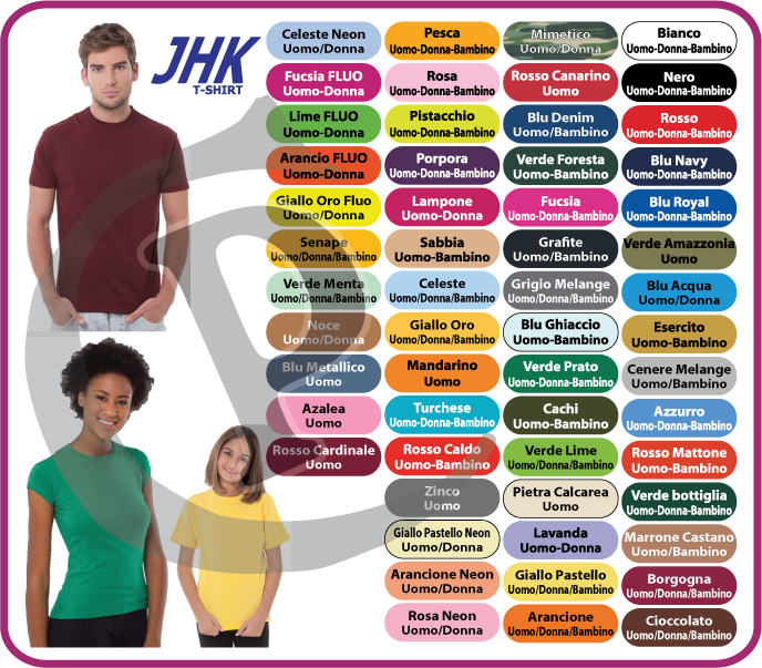 huge selection of 66ea3 8405c T-shirt personalizzate JHK Regular, Uomo, Donna, Bambino ...