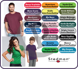 t-shirt personalizzate stedman classic men, woman, junior